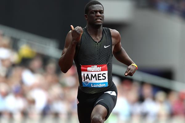 Kirani James in the 400m at the Diamond League meeting in London (Getty Images)