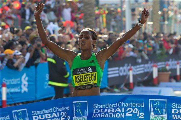 Aselefech Mergia takes the Dubai Marathon title in 2:19:31 (Organisers)