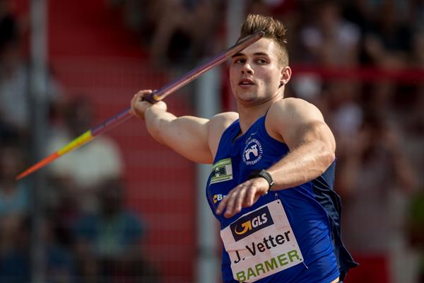 Johannes Vetter throws to first national title in Erfurt (Bongarts/Getty Images)