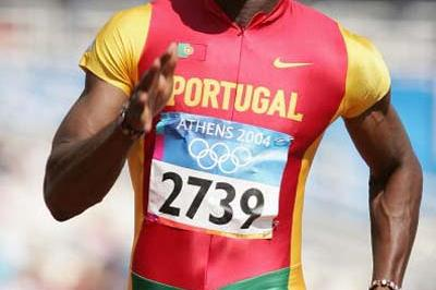Francis Obikwelu of Portugal in action in the men's 100m heats (Getty Images)