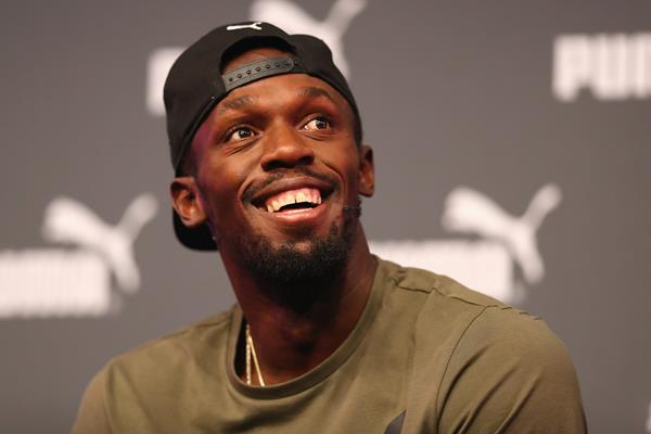 Usain Bolt at a press conference ahead of the IAAF World Championships London 2017 (Getty Images)