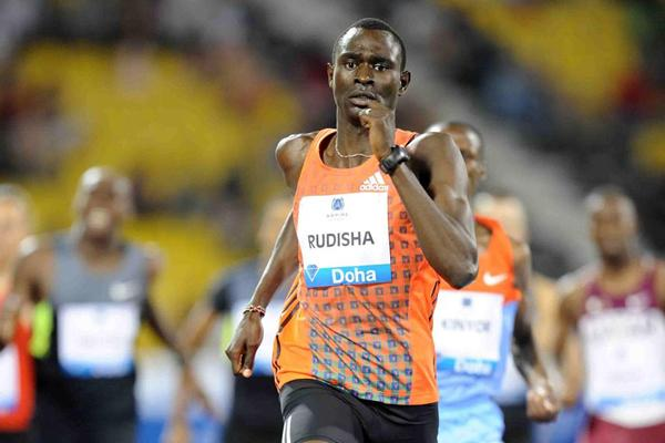 David Rudisha wins the 800m at the 2012 Samsung Diamond League in Doha (Jiro Mochizuki)