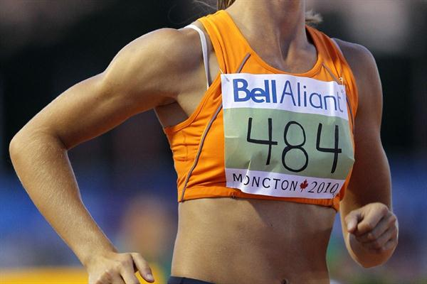 Dafne Schippers of the Netherlands in action in the final Heptathlon event, the 800m (Getty Images)