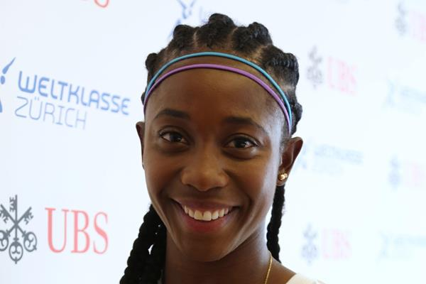 Shelly-Ann Fraser-Pryce ahead of the 2015 IAAF Diamond League final in Zurich (Jean-Pierre Durand)