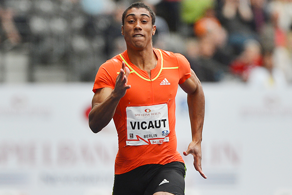 Jimmy Vicaut in the 100m at the ISTAF meeting in Berlin (AFP / Getty Images)