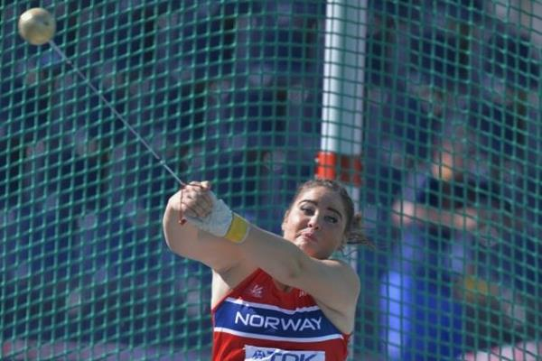 Beatrice Nedberge Llano in the hammer at the IAAF World U20 Championships Bydgoszcz 2016 (Getty Images)