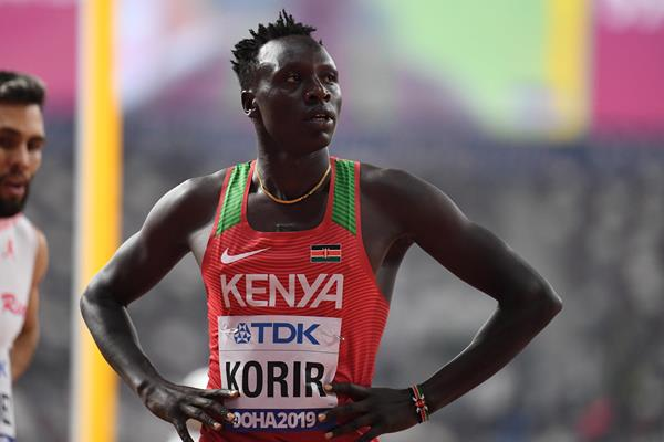 Emmanuel Korir at the IAAF World Athletics Championships Doha 2019 (AFP / Getty Images)
