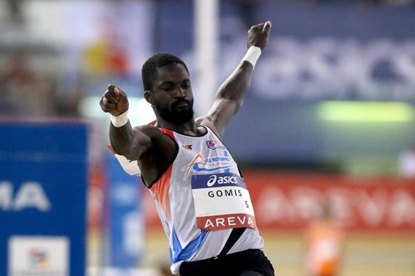 Kafetien Gomis at the 2015 French indoor championships (E.Chappelle / PhotoAthlé)