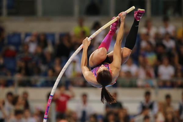 Ekaterini Stefanidi, winner of the pole vault at the IAAF Diamond League meeting in Rome (Philippe Fitte)
