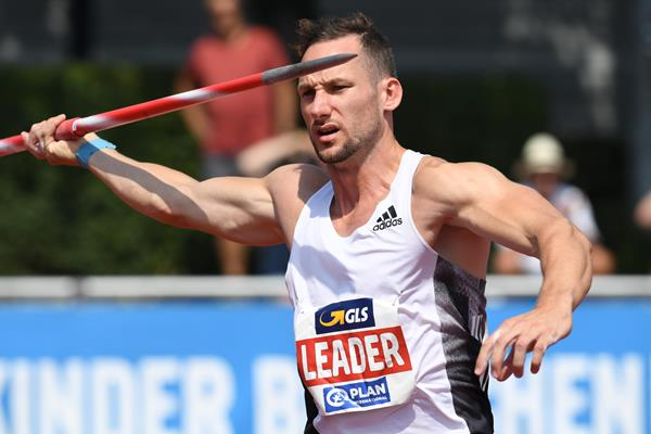 Kai Kazmirek in the decathlon javelin in Ratingen (Gladys Chai von der Laage)