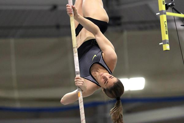 Ekaterini Stefanidi, winner of the pole vault at the IAAF World Indoor Tour meeting in Boston (Victah Sailer)