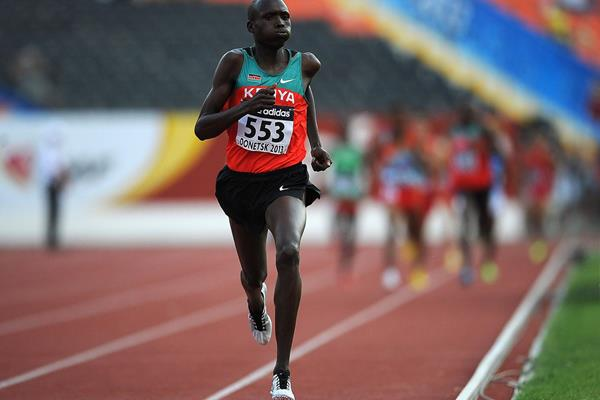 Robert Kiptoo Biwott in the boys 1500m at the IAAF World Championships 2013 (Getty Images)