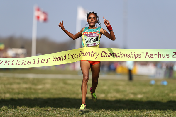 Fantu Worku anchors Ethiopia to gold in the mixed relay at the IAAF/Mikkeller World Cross Country Championships Aarhus 2019 (Getty Images)