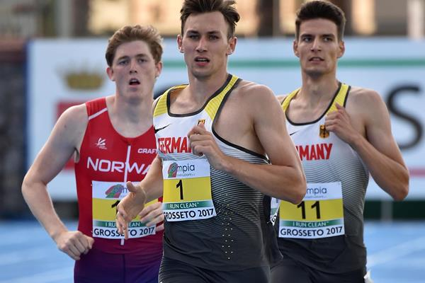 Niklas Kaul in the decathlon 1500m at the European U20 Championships in Grosseto (Getty Images)