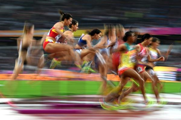 Runners in the first heat of the women's steeplechase at the IAAF World Championships London 2017 (Getty Images)