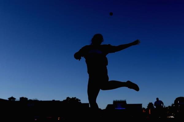 Shot putter in action (Getty Images)