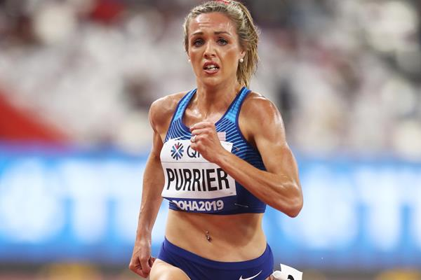 US middle-distance runner Elle Purrier in action (Getty Images)
