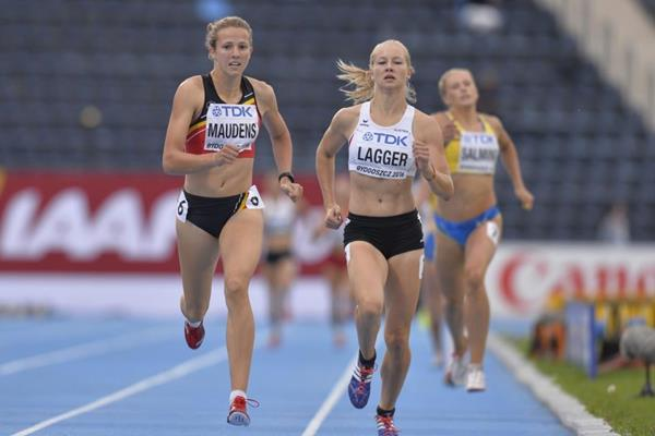 Sarah Lagger in the heptathlon 800m at the IAAF World U20 Championships Bydgoszcz 2016 (Getty Images)