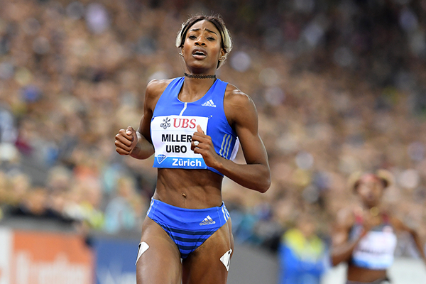 Shaunae Miller-Uibo wins the 200m at the IAAF Diamond League final in Zurich (Gladys Chai von der Laage)