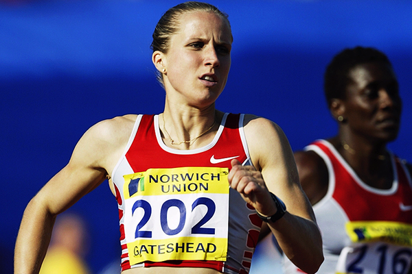 Katharine Merry in the 400m in Gateshead (Getty Images)