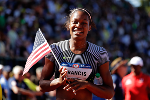 Phyllis Francis after the 400m final at the 2016 US Olympic Trials (Getty Images)