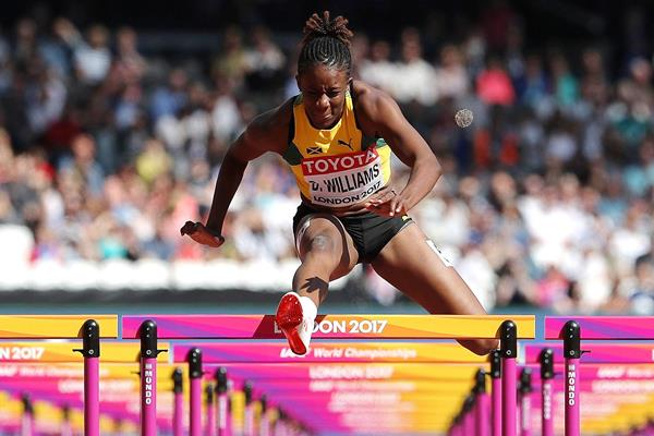 Danielle Williams in the 100m hurdles at the IAAF World Championships (Getty Images)