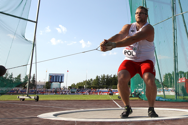 Pawel Fajdek in the hammer at the European Team Championships in Cheboksary (Giancarlo Colombo)