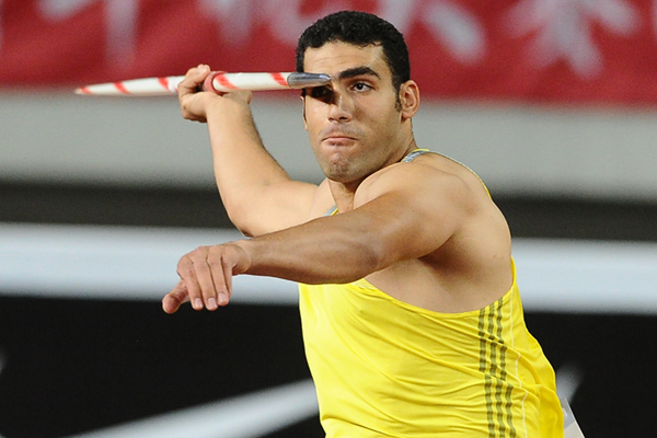 Egypt's Ihab Abdelrahman in action in the javelin (Errol Anderson)