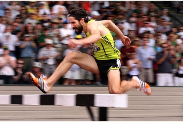 Anthony Famiglietti on his way to winning the 3000m Steeplechase at the US Olympic Trials (Getty Images)
