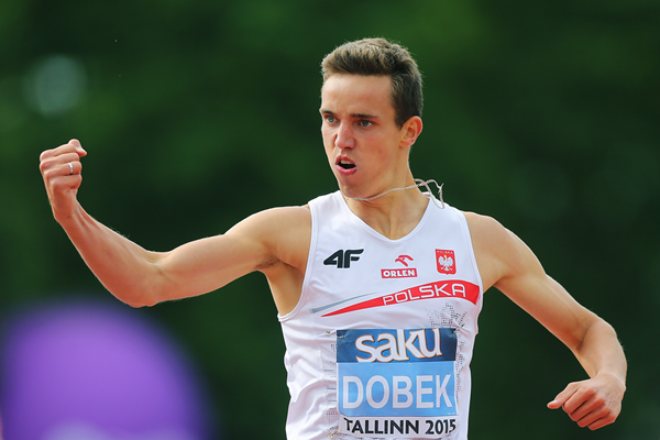 400m hurdles winner Patryk Dobek at the European Under-23 Championships in Tallinn (Getty Images)