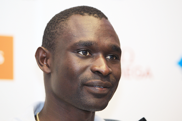 David Rudisha at the press conference for the IAAF Diamond League meeting in London (Jean-Pierre Durand)