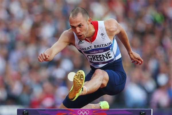 400m hurdler David Greene (Getty images)