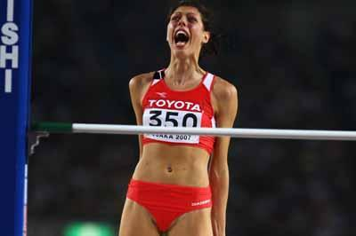 Blanka Vlasic of Croatia wins the High Jump Final (Getty Images)