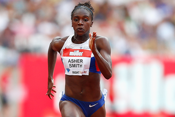 Dina Asher-Smith in action at the IAAF Diamond League meeting in London (Getty Images)