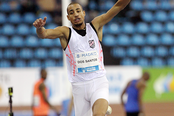 Almir dos Santos in the triple jump at the IAAF World Indoor Tour meeting in Madrid (Jean-Pierre Durand)