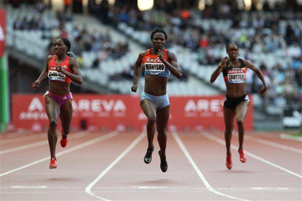 World champion Amantle Montsho takes the 400m in the Stade de France (Jean-Pierre Durand)