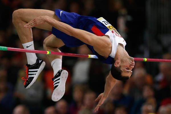 Robbie Grabarz in the high jump at the IAAF World Indoor Championships Portland 2016 (Getty Images)