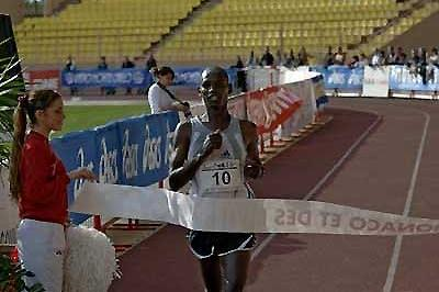 John Kirui of Kenya wins the 2005 Monaco Marathon (Sean Wallace-Jones)