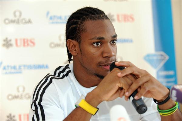 Yohan Blake in Lausanne (ATHLETISSIMA/Denis Roulet)