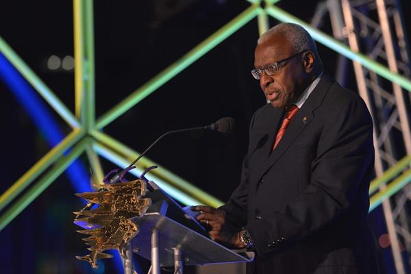 IAAF President Diack at the Great North Run Million Opening Ceremony, 4 September 2014 (North News and Pictures / organisers)