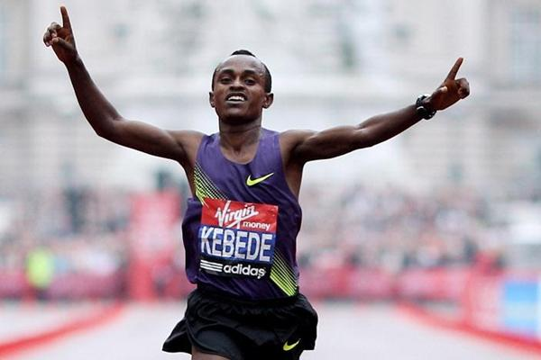 Tsegaye Kebede after his commanding victory in London (Getty Images)