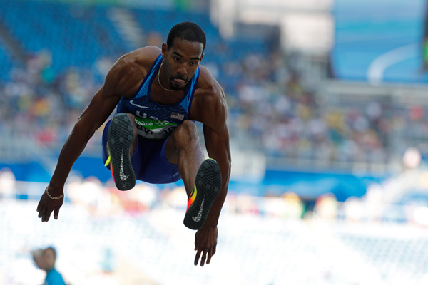 Christian Taylor in the triple jump at the Rio 2016 Olympic Games (AFP / Getty Images)