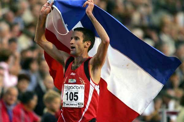 Simon Vroemen after setting his outright European Steeplechase record in Brussels (Getty Images)