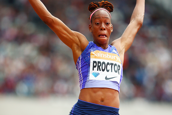 Shara Proctor in action in the long jump at the IAAF Diamond League meeting in London (Getty Images)