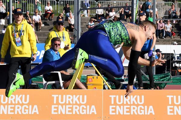 Johannes Vetter in Turku (AFP/Getty Images)