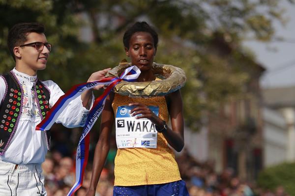 Chaitu Waka wins the Kosice Peace Marathon (Organisers)
