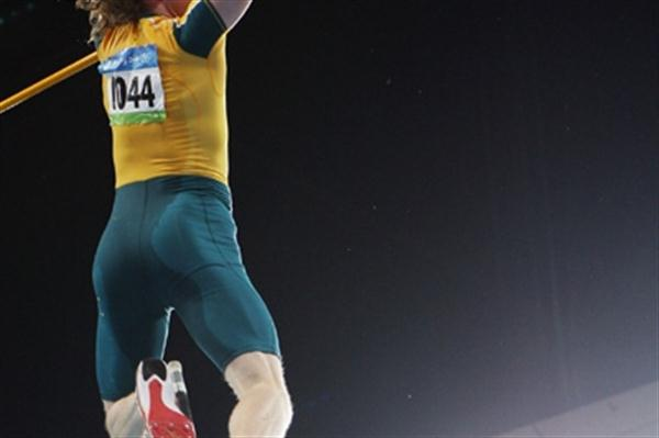 Steve Hooker clears 5.96m to win Australia's first athletics Olympic gold medal of the 2008 Games (Getty Images)