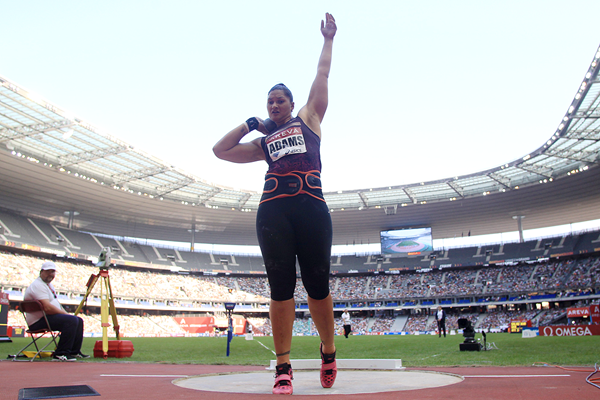 Valerie Adams at the IAAF Diamond League meeting in Paris (Jean-Pierre Durand)
