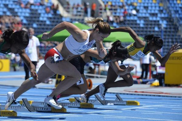 Ewa Swoboda in the 100m at the IAAF World U20 Championships Bydgoszcz 2016 (Getty Images)