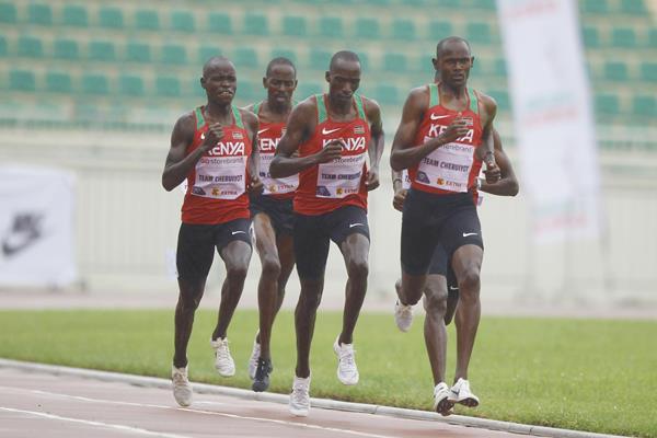 Team Cheruiyot racing from Nairobi in the Impossible Games (Kelly Ayodi)